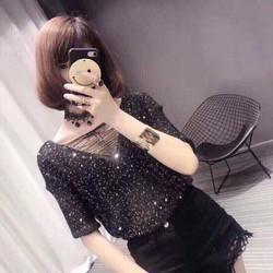 Áo kim sa siêu hot đủ màu: đen be hồng trắng