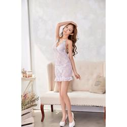 Đầm ngủ ren trắng ôm body TK913