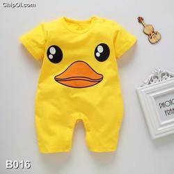 Bodysuit áo liền quần in hình thú dễ thương cho trẻ sơ sinh giá rẻ