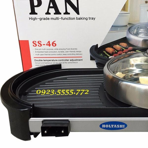 Bếp lẩu nướng không khói Holtashi PAN SS-46 3