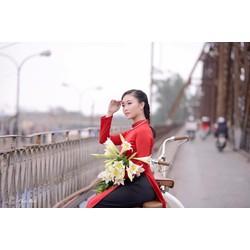 vải bộ áo dài truyền thống lụa trơn Thái Tuấn giá rẻ
