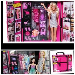 Bộ đồ chơi tủ thời trang phụ kiện và 2 nàng búp bê xinh đẹp