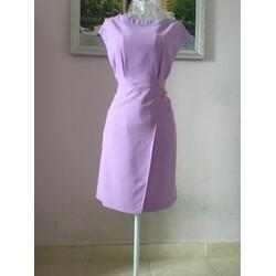 Đầm tay liền tà đắp chéo - Hàng thiết kế
