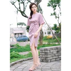 Đầm body đính hoa hồng eo