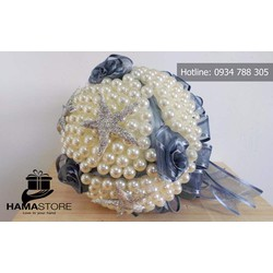 Hoa cưới cầm tay ngọc trai