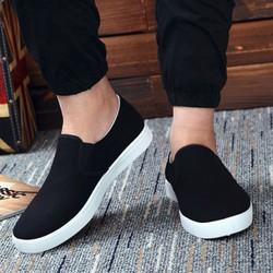 Giày lười nam màu đen cơ bản