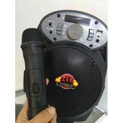 Loa bluetooth karaoke A6 tặng kèm mic không dây