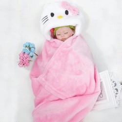 Khăn choàng giữ ấm cho bé có trùm đầu