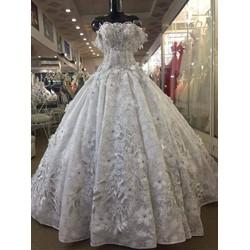 Áo cưới đuôi  mới cao cấp