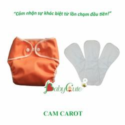 Combo 1 bộ tã vải và 3 miếng lót Sơ sinh BabyCute màu bé trai size SS