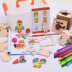 Bộ 50 khuôn vẽ và tô màu cho bé phát triển trí tuệ