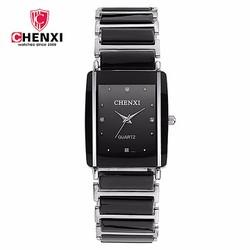 Đồng hồ mặt chữ nhật dây đá Chenxi AL99 kiểu nam