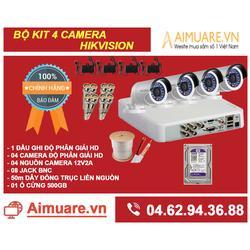 Combo hệ thống 4 camera Hikvision chính hãng tự lắp đặt - AMR44