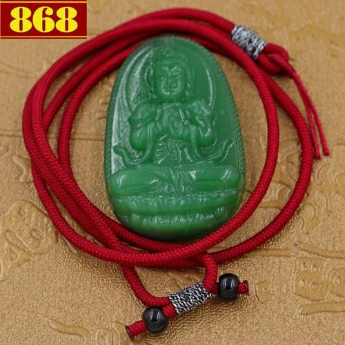 Vòng cổ Như Lai Đại Nhật 5 cm - Phật bản mệnh đá ngọc tủy xanh