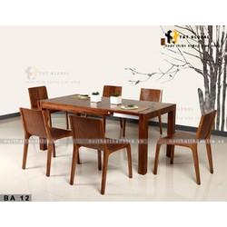 Bàn ăn gỗ sồi kiểu Hàn Quốc BA12