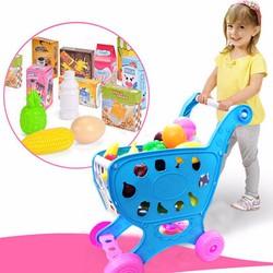 Bộ đồ chơi xe đẩy siêu thị cho bé
