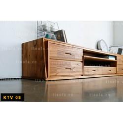 Kệ tivi gỗ tự nhiên KTV 08