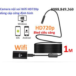 Camera nội soi dây cáp cứng định hình dài 1m phát Wifi chuẩn HD720p