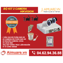 Combo Hệ Thống 2 Camera Hikvision Chính Hãng Tự Lắp Đặt - AMR42