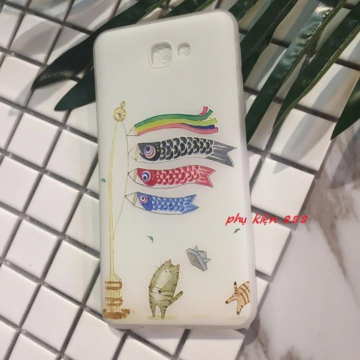 Ốp lưng dẻo Samsung Galaxy J7 Prime lồng đèn cá 3