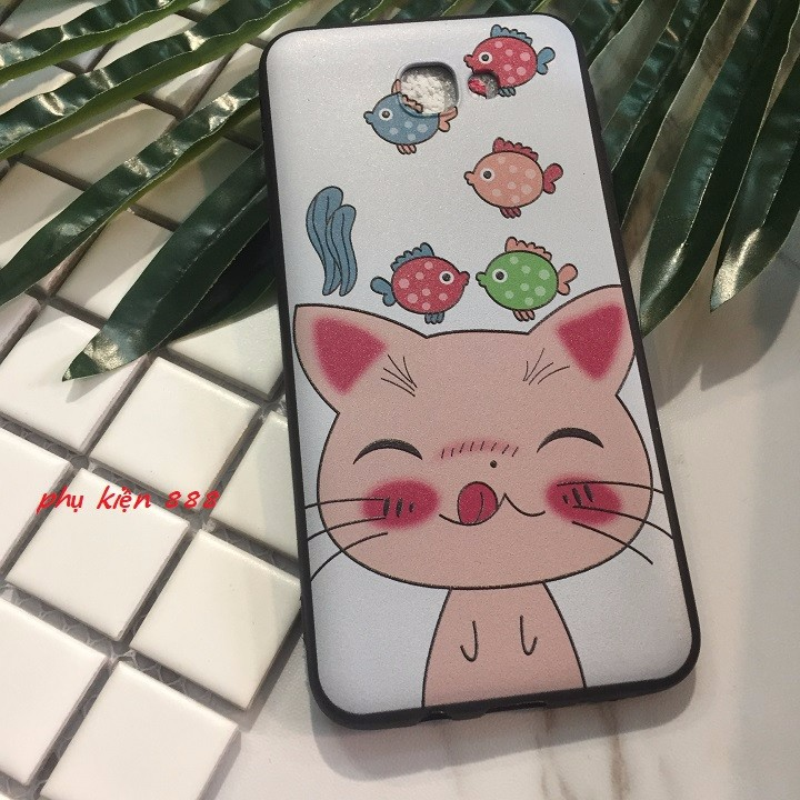 Ốp lưng dẻo Samsung Galaxy J7 Prime mèo lè lưỡi 5