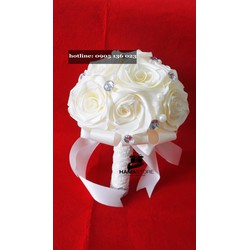 Hoa cưới phụ kiện đẹp giá rẻ kem tinh khôi - QB - 01