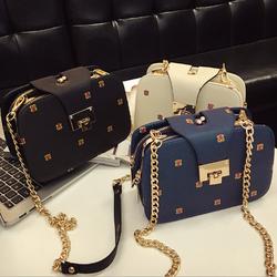 Túi đeo chéo nữ hình hộp nhiều ngăn Klein sang trọng QSTORE QS90