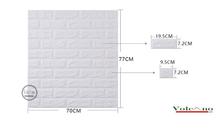Sử dụng xốp dán tường 3D