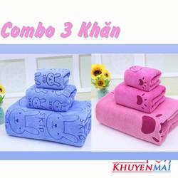 Bộ 3 khăn tắm Thái siêu mềm mịn