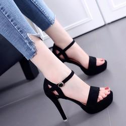 Giày cao gót hậu khóet bên hông Thời trang Kóreá