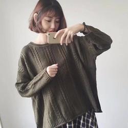 áo len vặn thừng