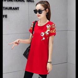 Set bộ áo form dài màu đỏ