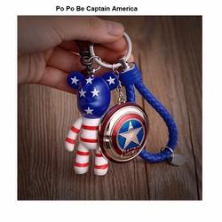 Móc Khóa Po Po Be Captain America
