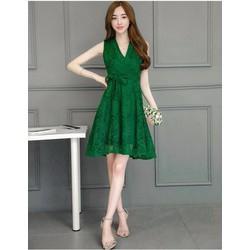 Đầm xòe ren cao cấp thời trang Lâm Anh