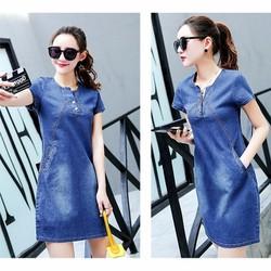 Đầm Jean Suông Phong Cách Thời Trang có size XXL DJV130
