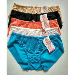 Combo 5 quần lót nữ Spring 5402 vải ren lưới
