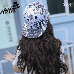mũ nón snapback phối đen trắng cá tính