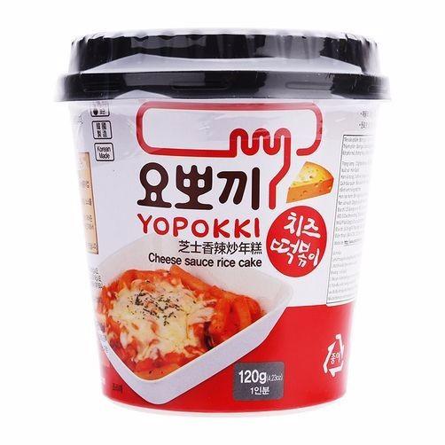 Bánh gạo Topokki Vị Phomai 3 cốc 1