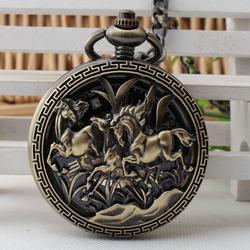 Đồng hồ quả quýt lên cót tay Song Mã mặt Đen