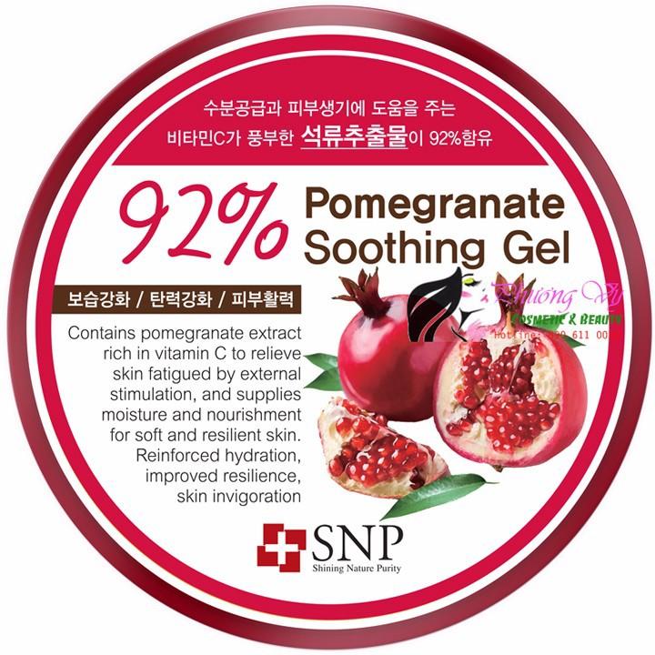 Gel dưỡng ẩm SNP chiết xuất quả lựu 92 phần trăm 1
