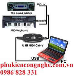 Dây cáp Midi sang USB cho Organ cao cấp giá rẻ