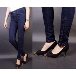Quần jean lưng cao 5 nút bắp chân VQ4912