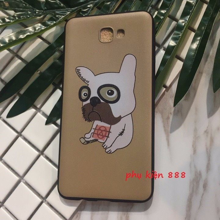Ốp lưng dẻo Samsung J5 Prime chó pug mặt xệ 7