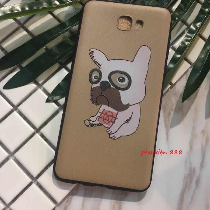 Ốp lưng dẻo Samsung J5 Prime chó pug mặt xệ 5