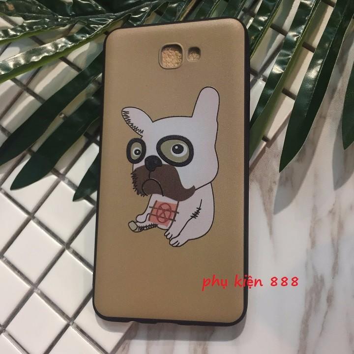 Ốp lưng dẻo Samsung J5 Prime chó pug mặt xệ 3