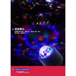 Đèn led vũ trường 3D quả cầu pha lê