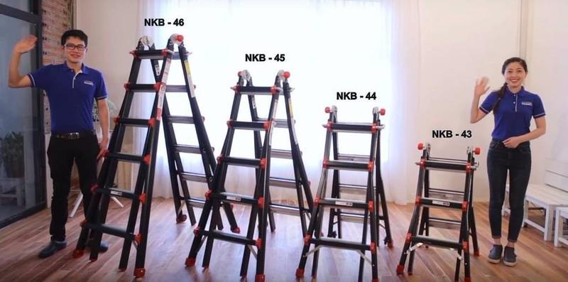 Thang Nhôm Gấp 4 Khúc Nikawa NKG-44 - Đen