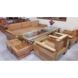 bộ bàn ghế salon phòng khách gỗ tự nhiên. mẫu tay chứng