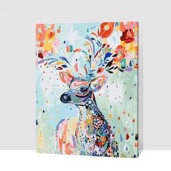 Tranh sơn dầu DIY handmade - Nai con