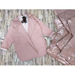 Áo khoác vest, blazer xẻ tà